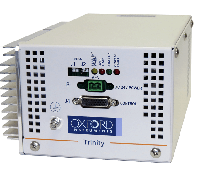 Trinity is an 80kV, 33µm, 40W, fully shielded integrated X-ray source
